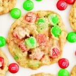 Christmas Oatmeal M & M Cookies