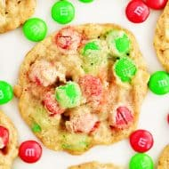 Christmas Oatmeal M & M Cookies
