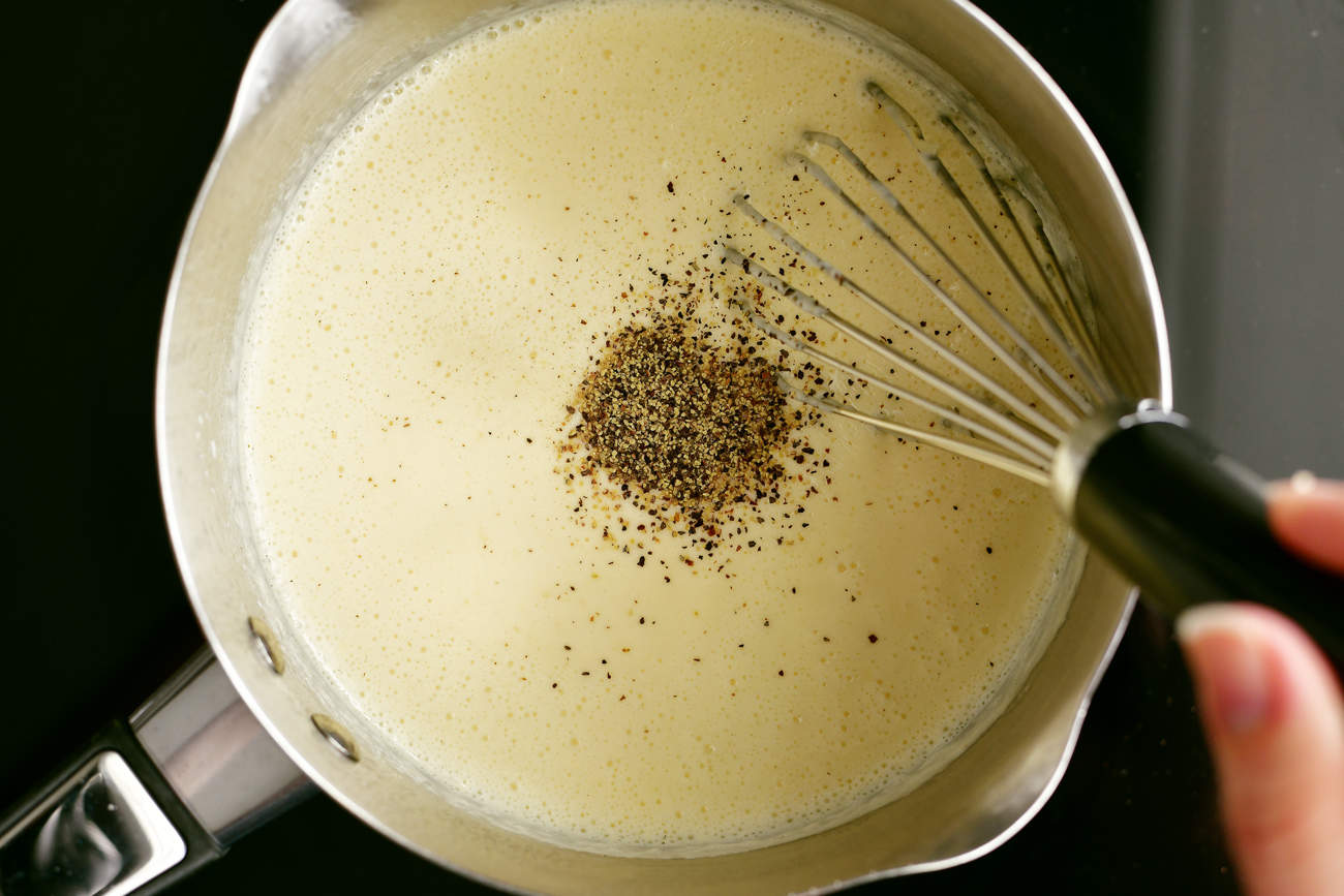 black pepper for the smoked gouda fondue