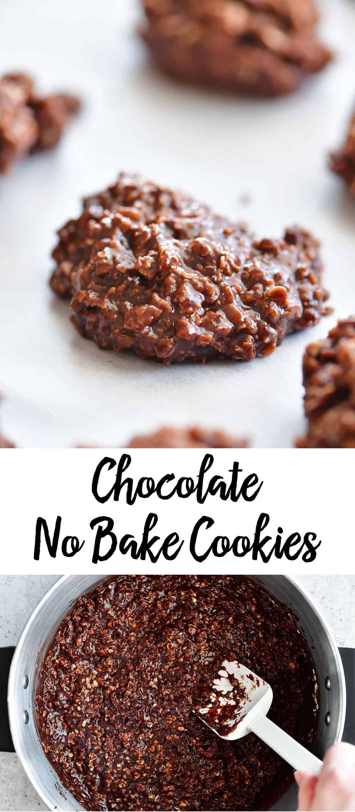 chocolate no bake cookies recipe pin