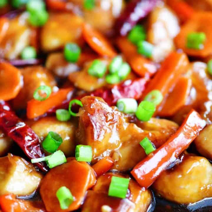 General Tso Chicken in pan