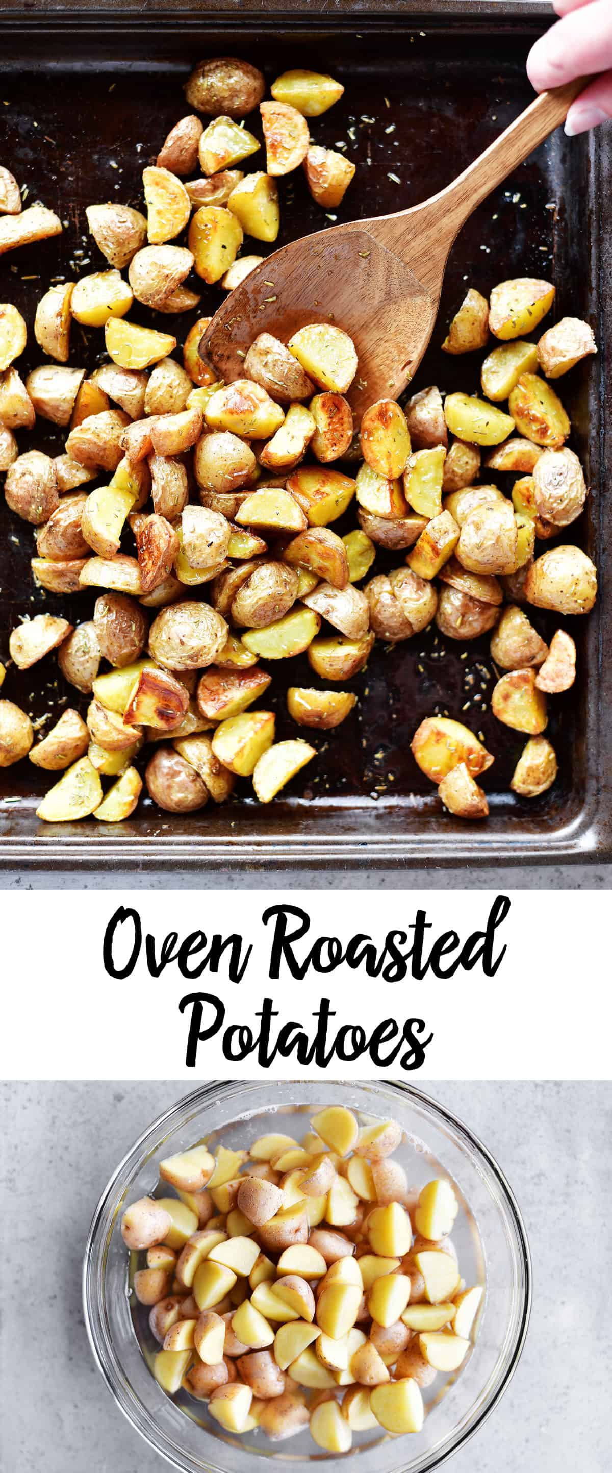 oven roasted potatoes photo collage