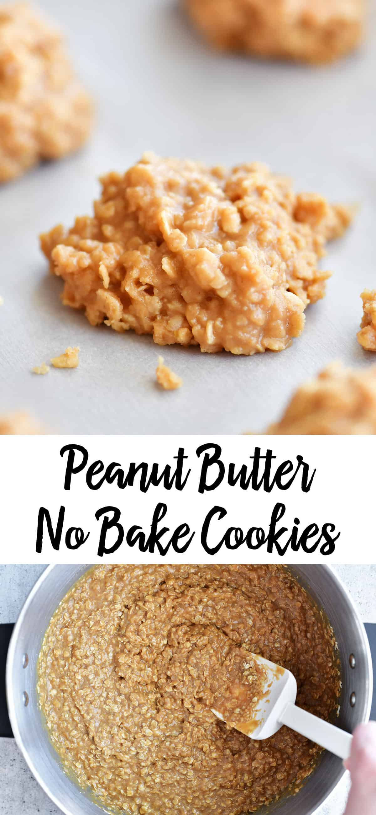 peanut butter no bake cookies photo collage