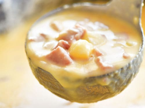 Slow Cooker Ham and Cheese Soup