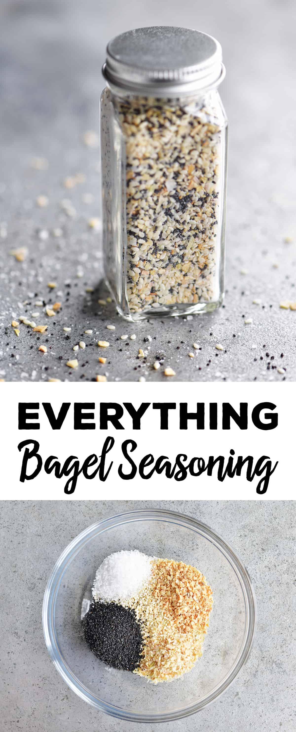 everything bagel seasoning photo collage