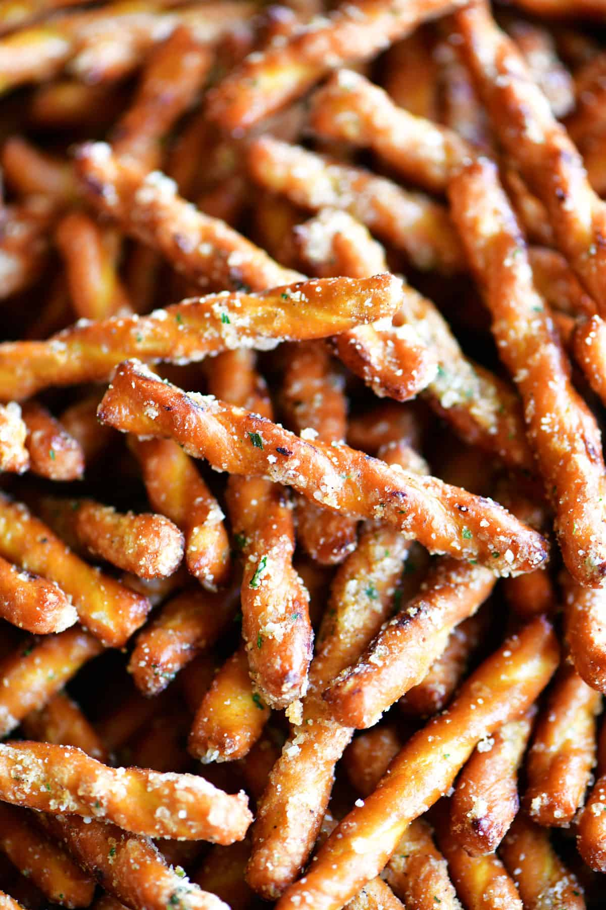 spicy pretzels sticks with ranch seasoning