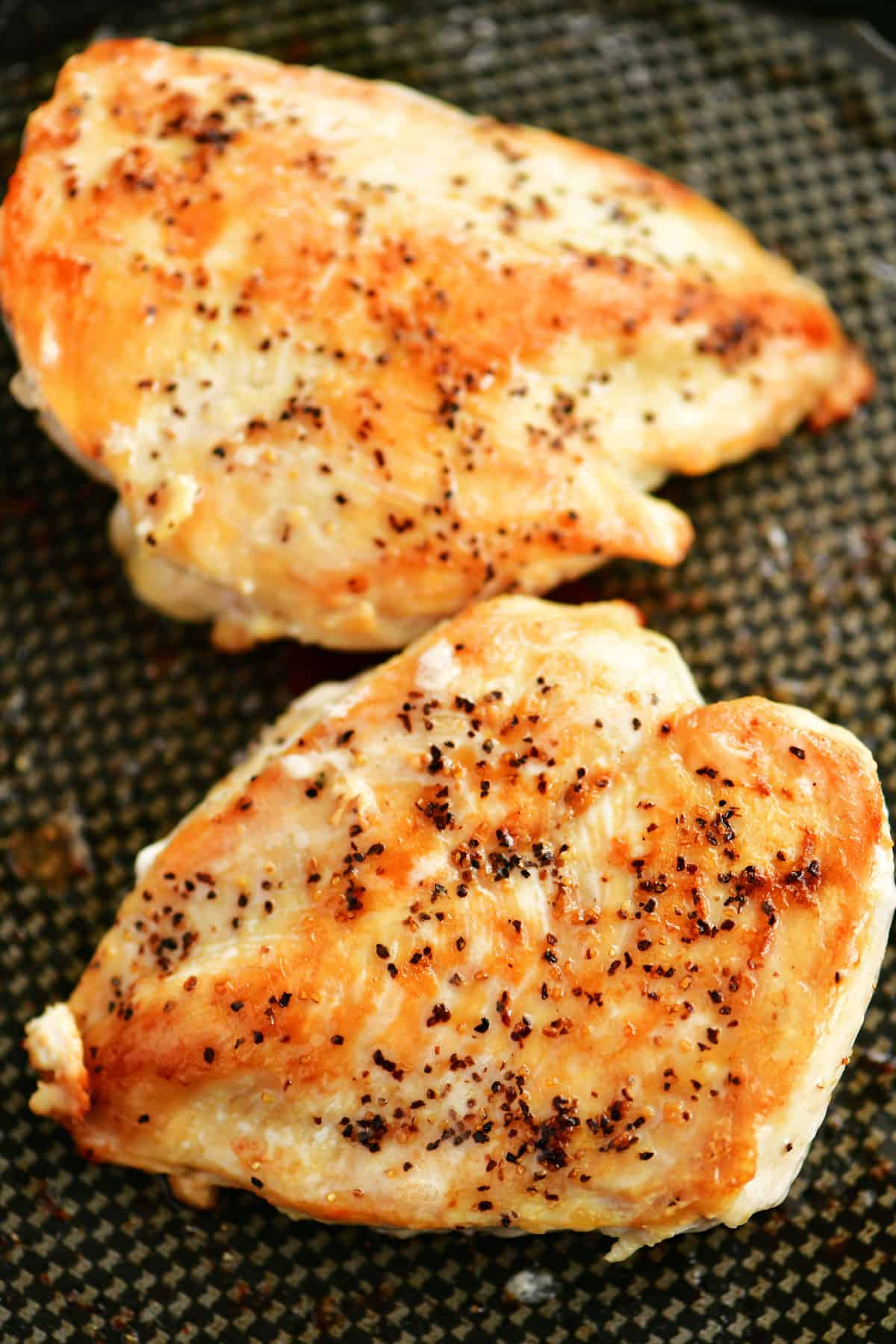 boneless skinless chicken breasts cooked on the stove
