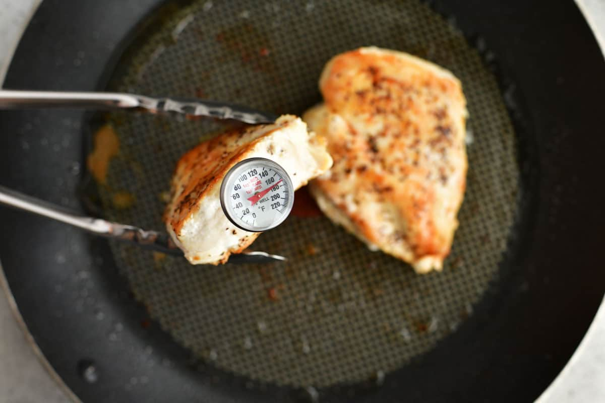 chicken breasts cooked to temp on the stove