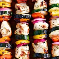 Garlic Herb Chicken Kabobs