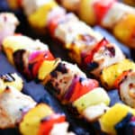 grilled mango chicken kabobs