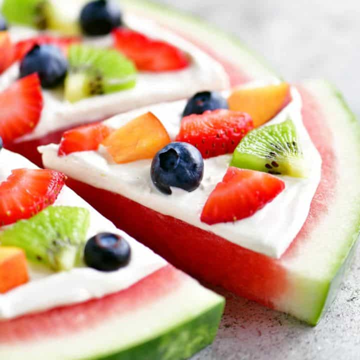 slice of watermelon pizza