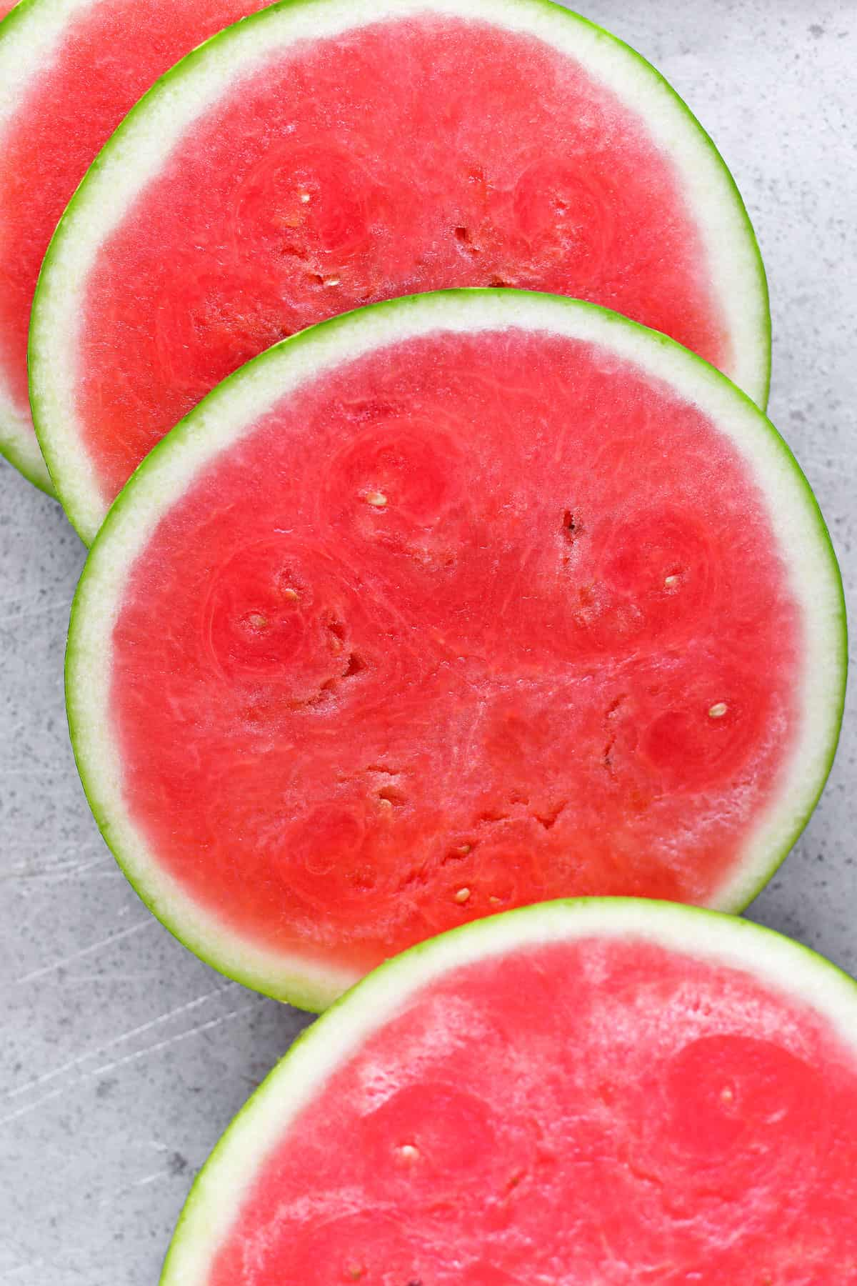 watermelon sliced into rounds