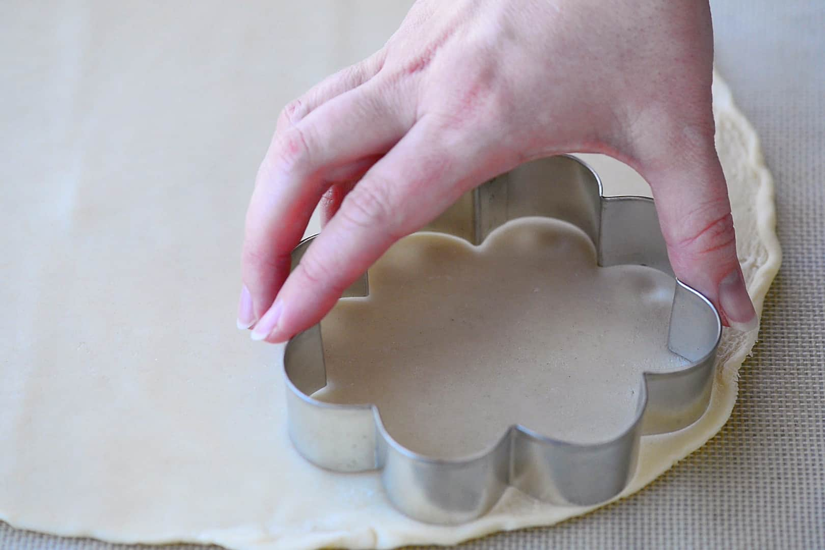 Scalloped Cookie Cutter On Pie Crust