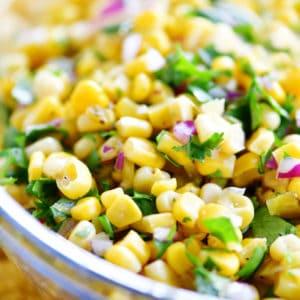corn salsa with cilantro