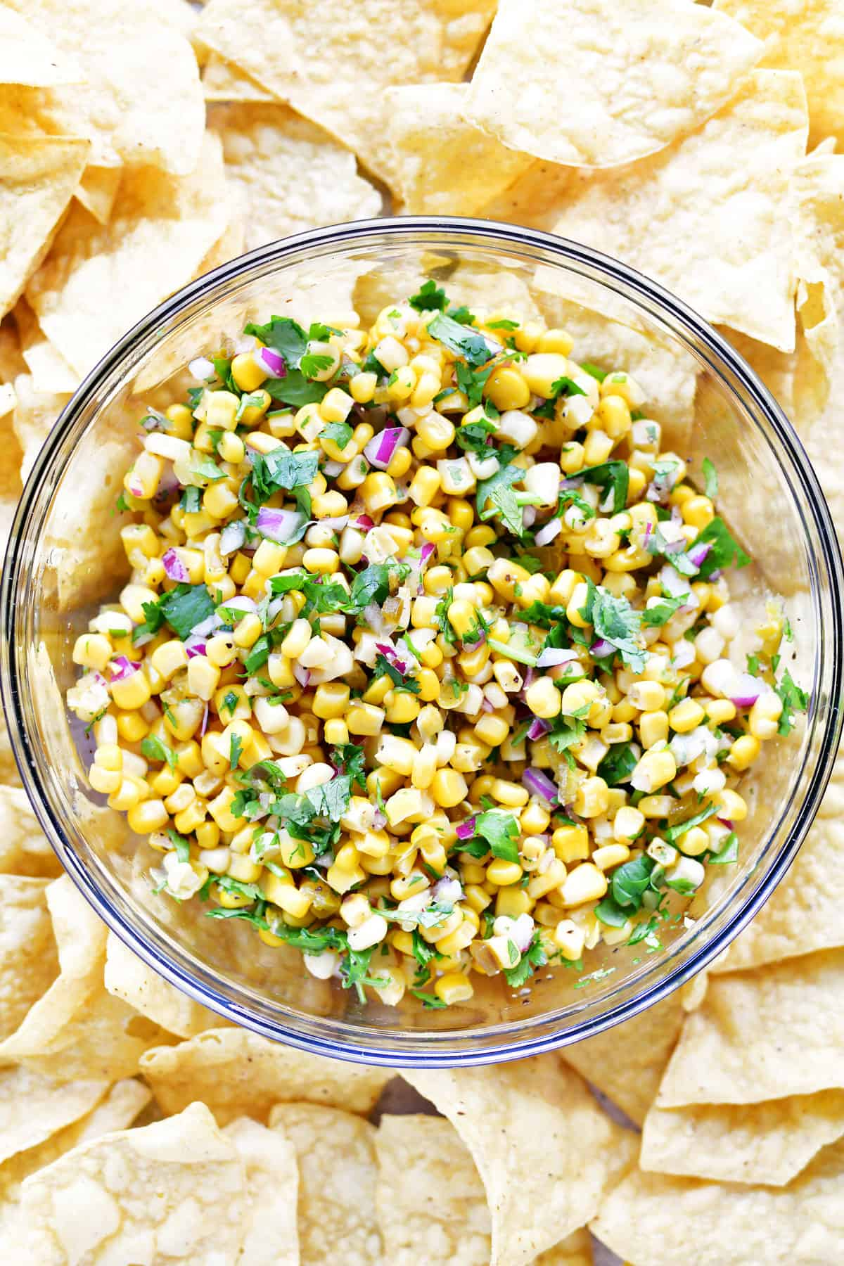 corn salsa in a bowl