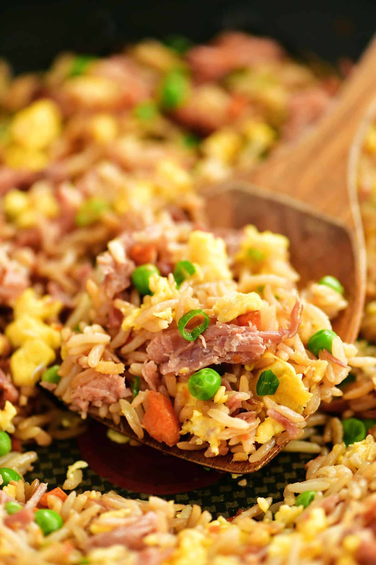 pork fried rice scoop