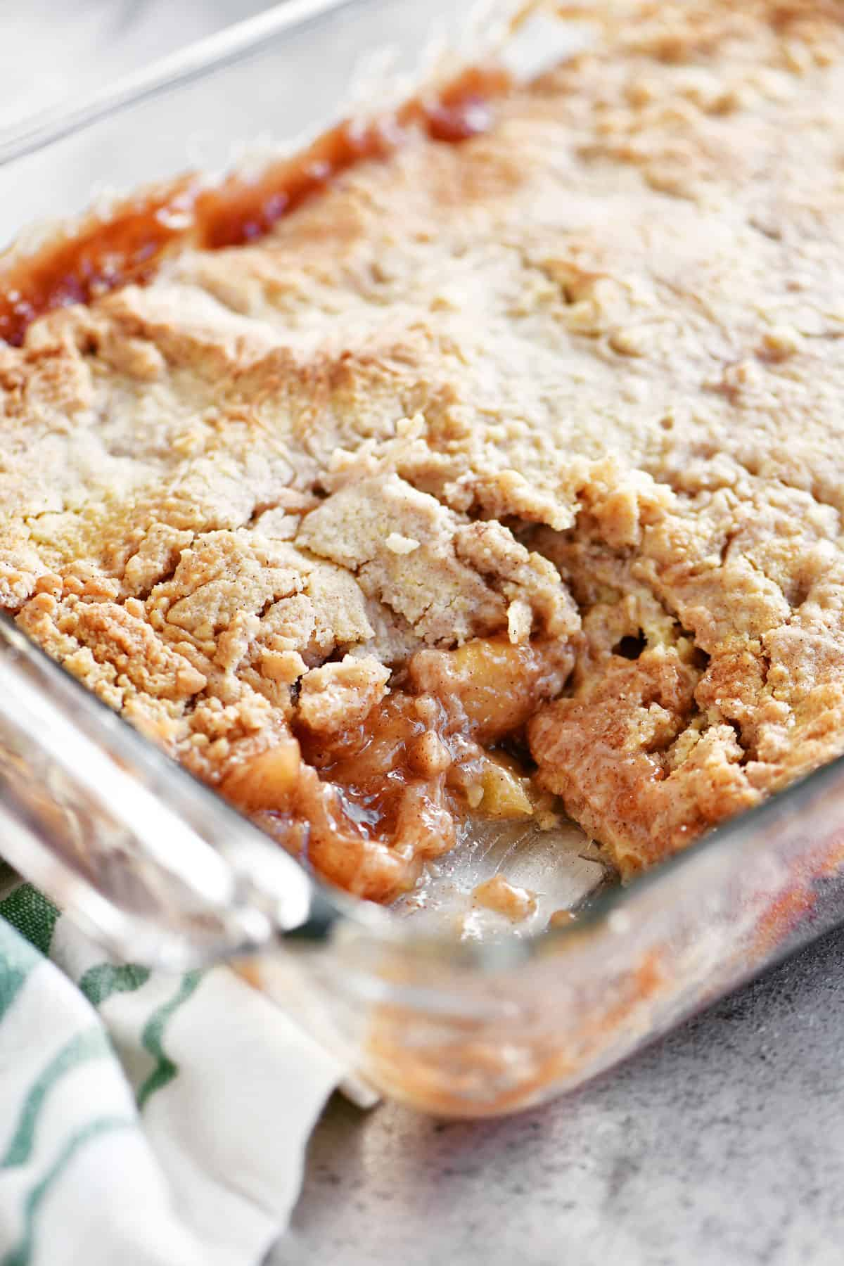 inside apple cobbler