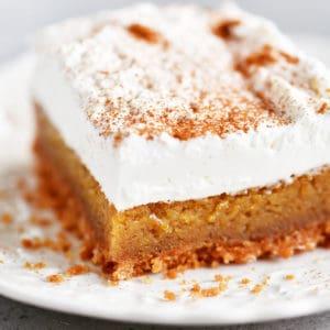 pumpkin bar on a white plate