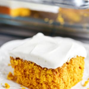 pumpkin cake piece