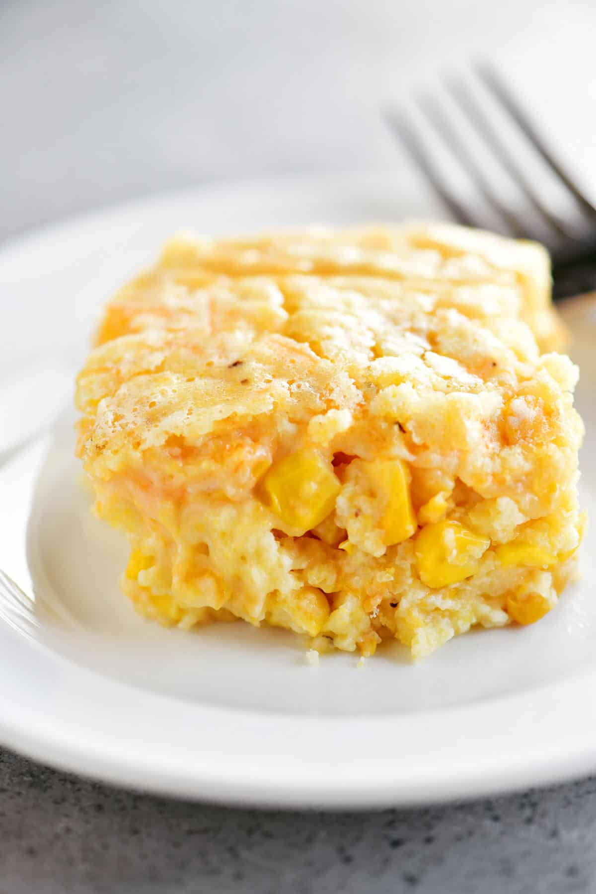 slice of corn casserole