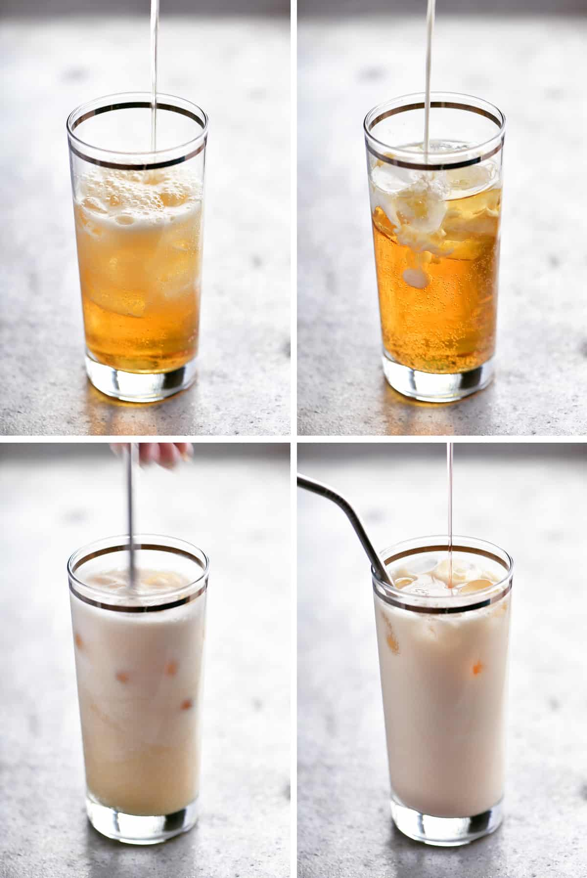 Peaches and Cream RedBull Drink Collage