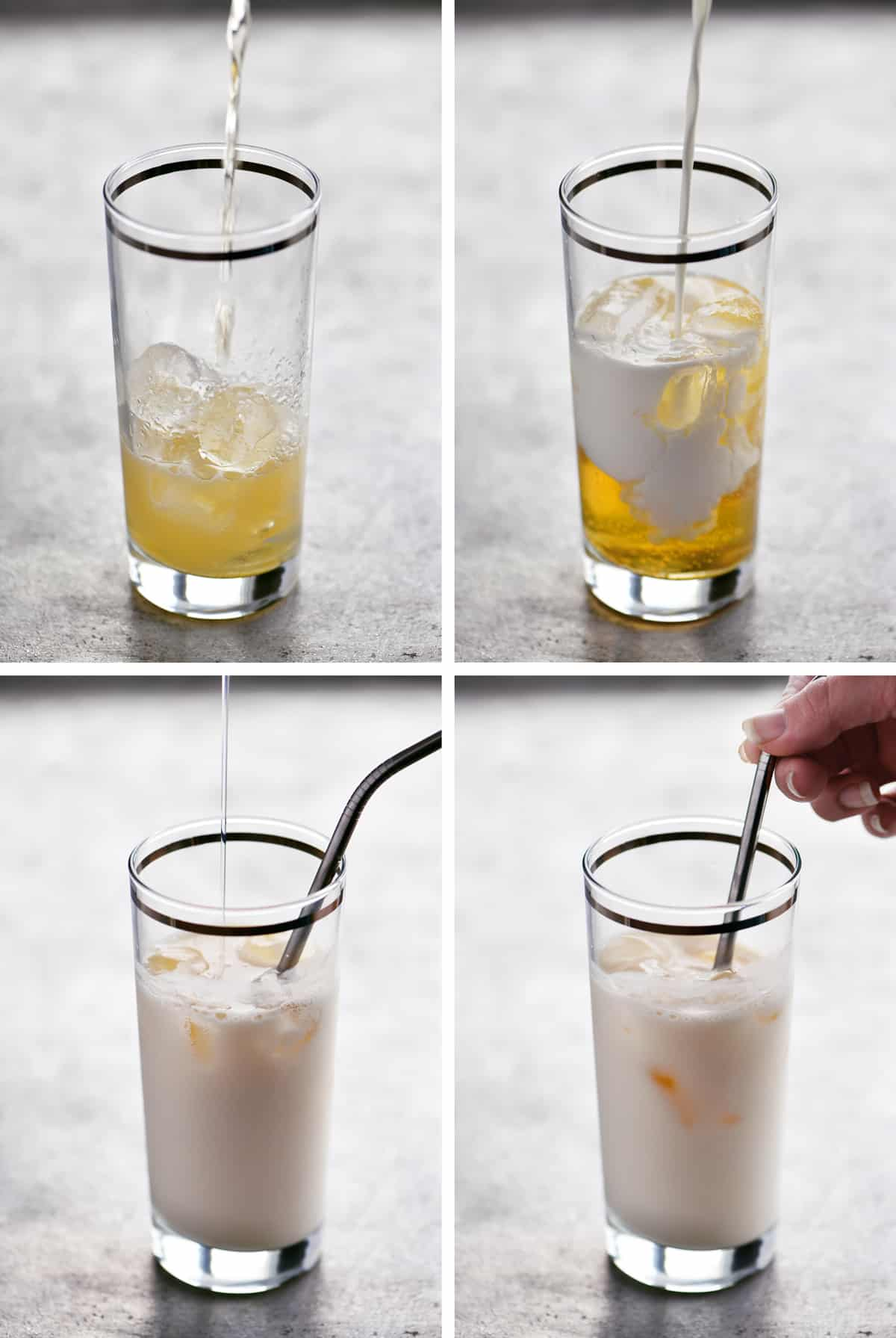 Steps to make Pina Colada beverage
