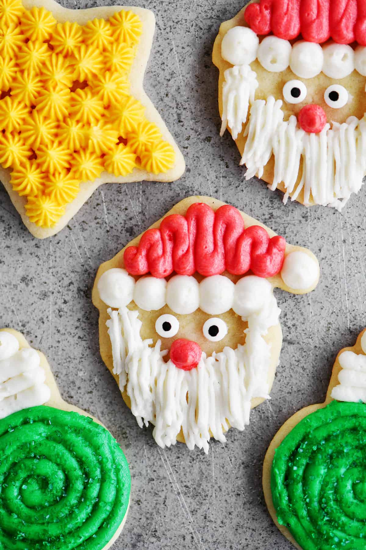 buttercream iced sugar cookies