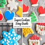 collage of decorated sugar cookie photos