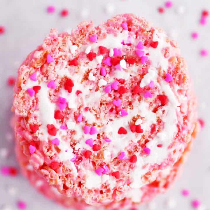 valentines pinwheels with sprinkles