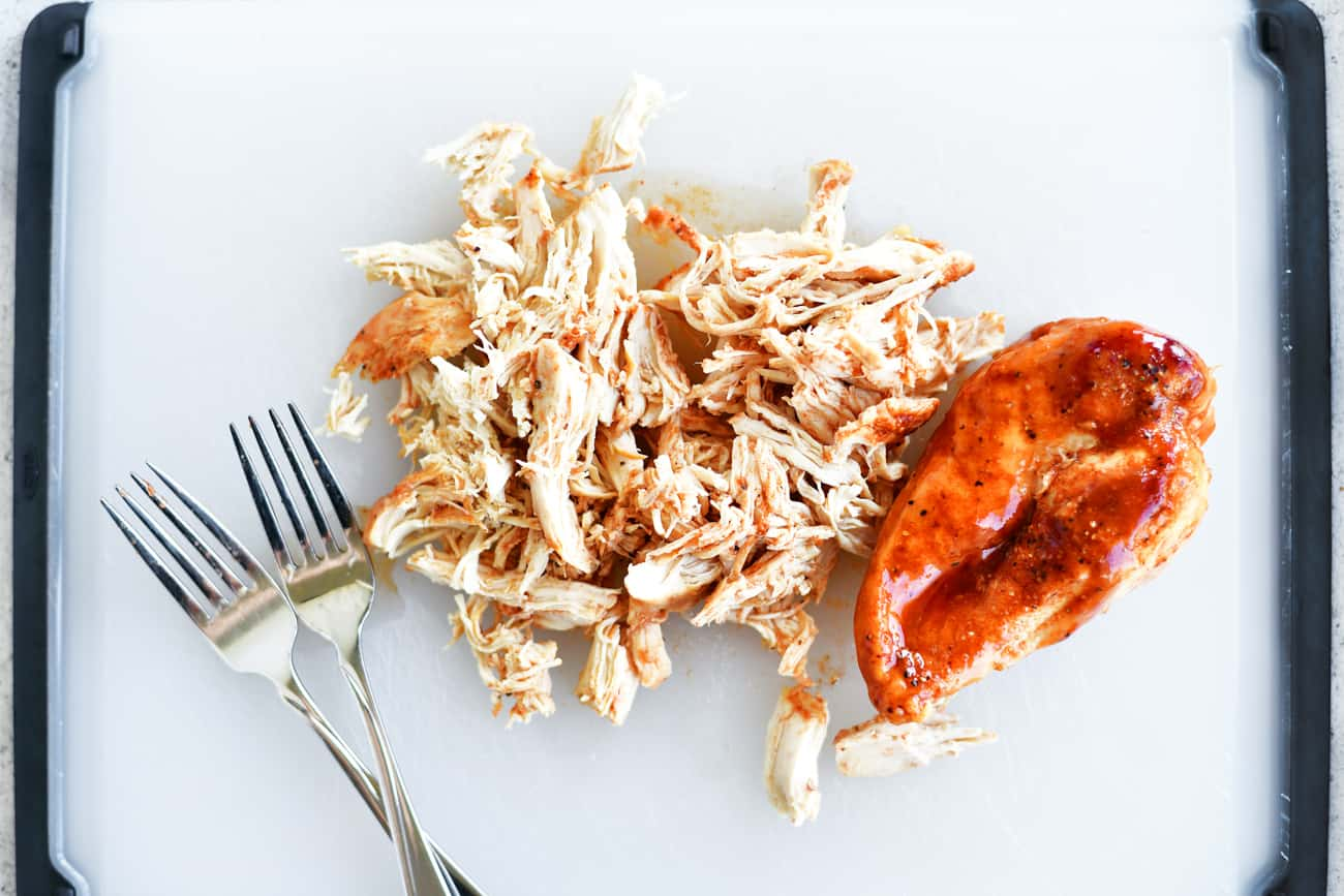 shredding barbecue chicken