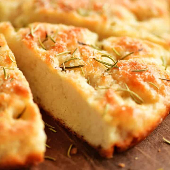 inside of the rosemary focaccia bread