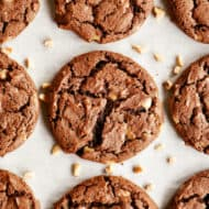 Chocolate Toffee Cake Mix Cookies