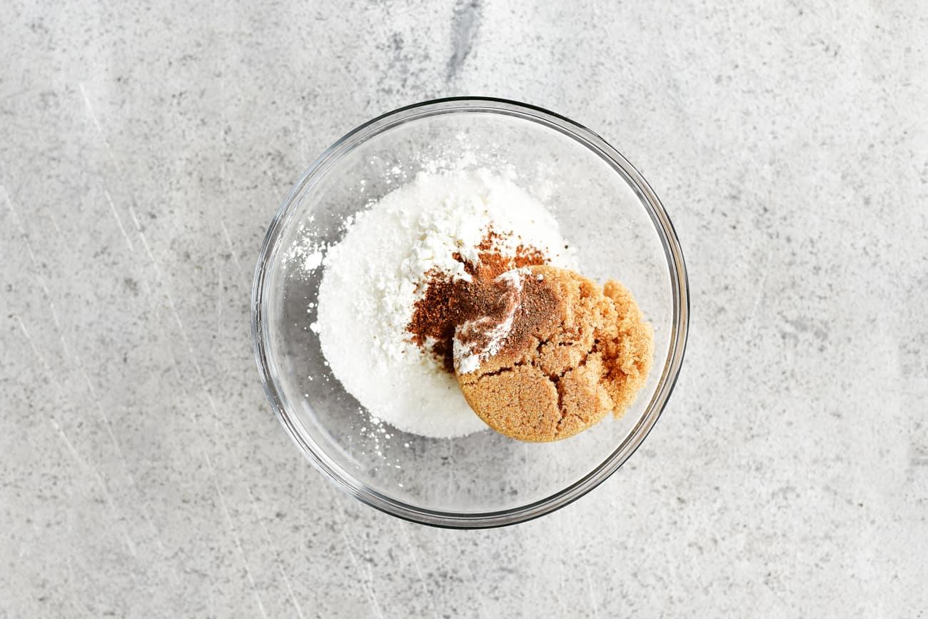 sugar and seasoning in a small bowl