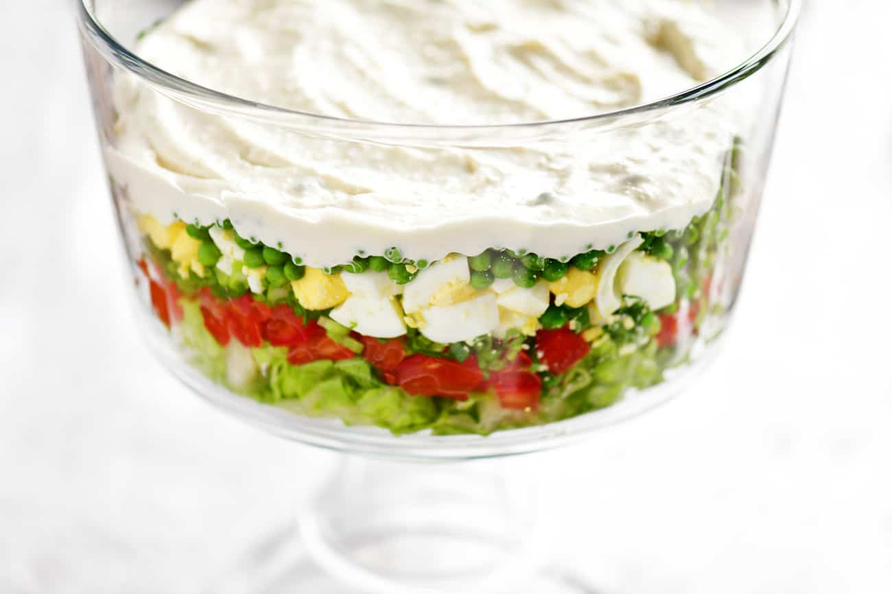 spread dressing on top