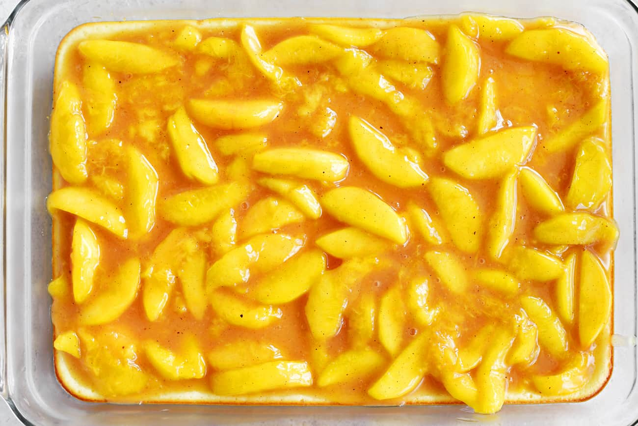 peach pie filling layer