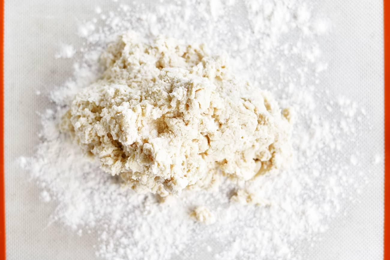 dough on a floured surface