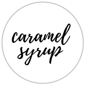 caramel syrup label
