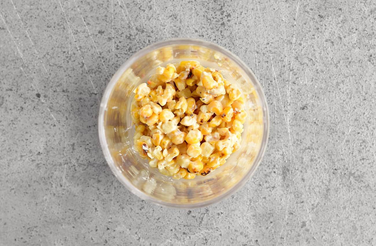 spread mexican corn salad in cup