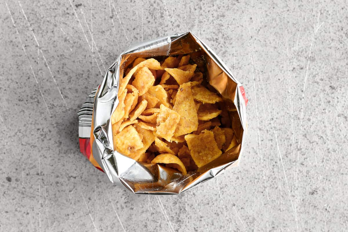 chips in a chip bag