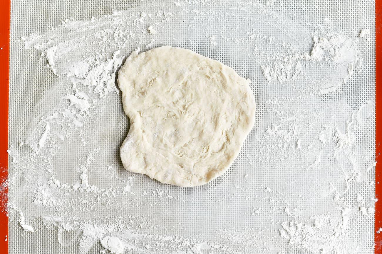 flattened round of dough