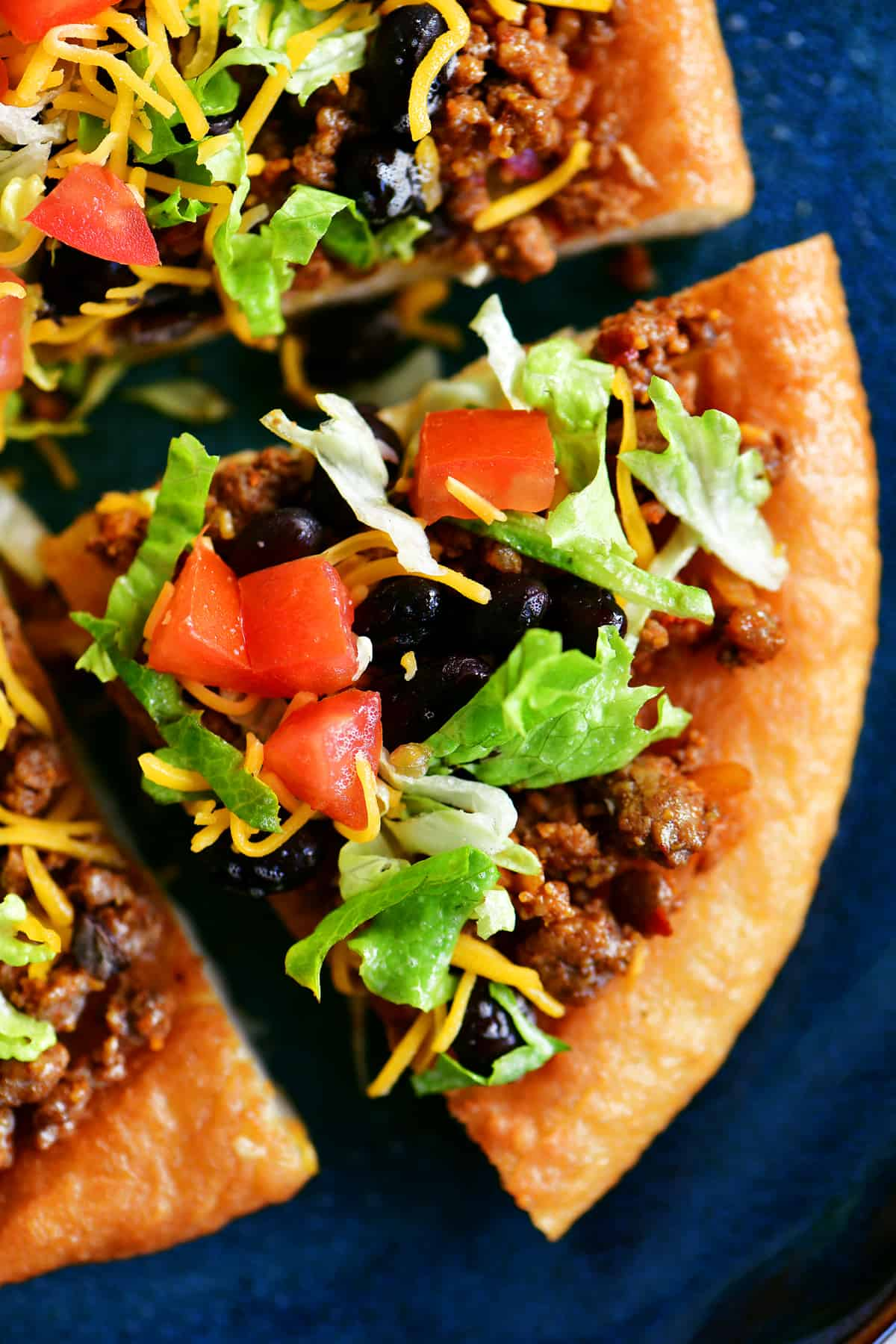 Navajo taco slice