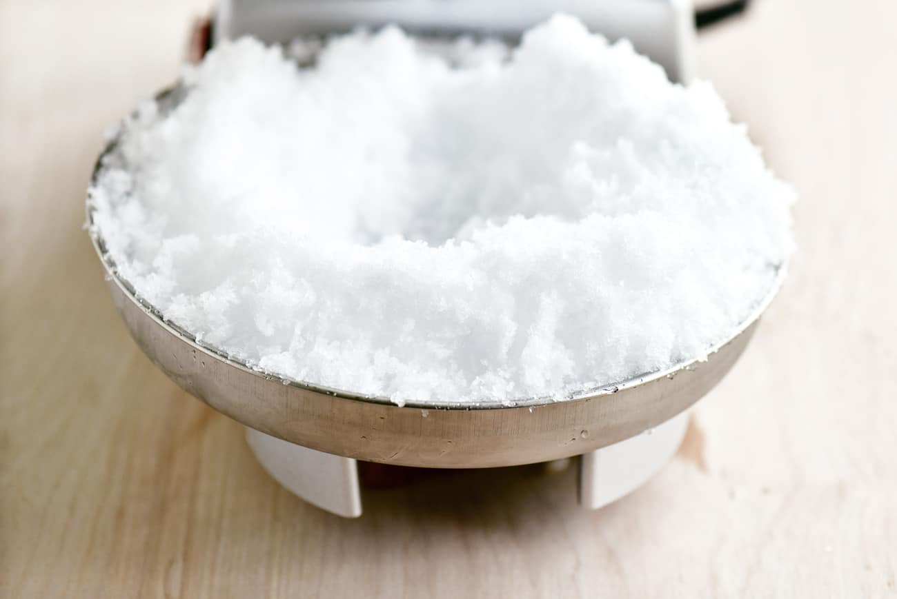 snow in a bowl