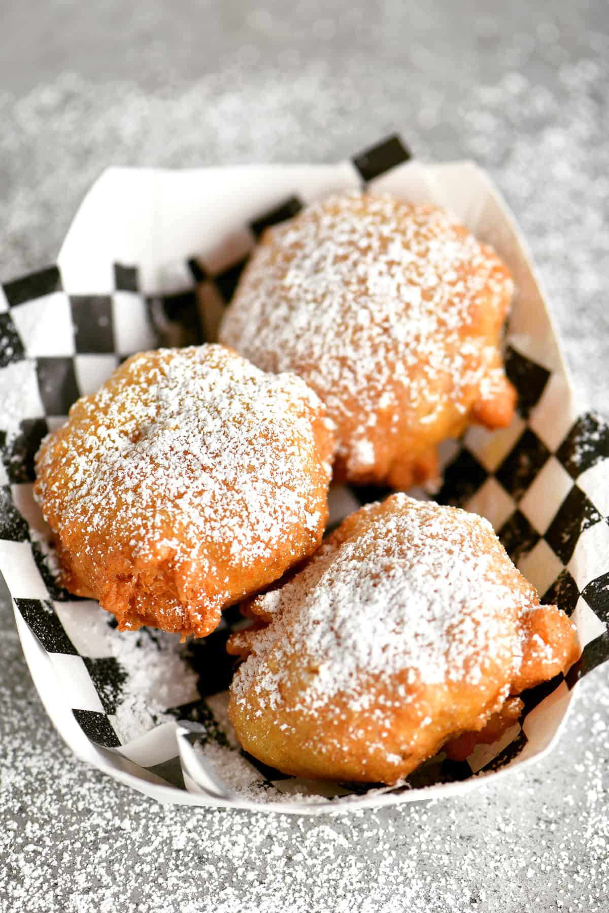 fried Oreos in a paper tray