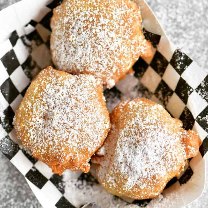 fried Oreo cookies with powdered sugar on top