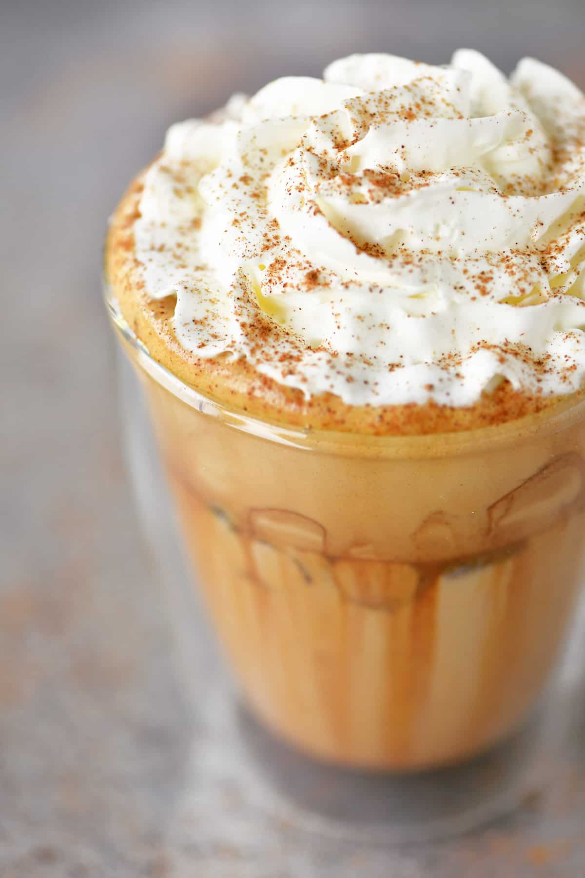 pumpkin spice whipped coffee in a cup