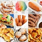 collage of fair food