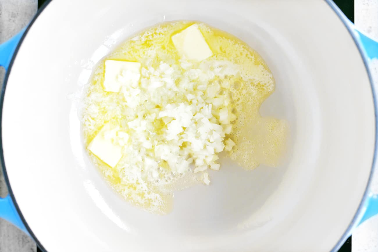 saute onions in butter