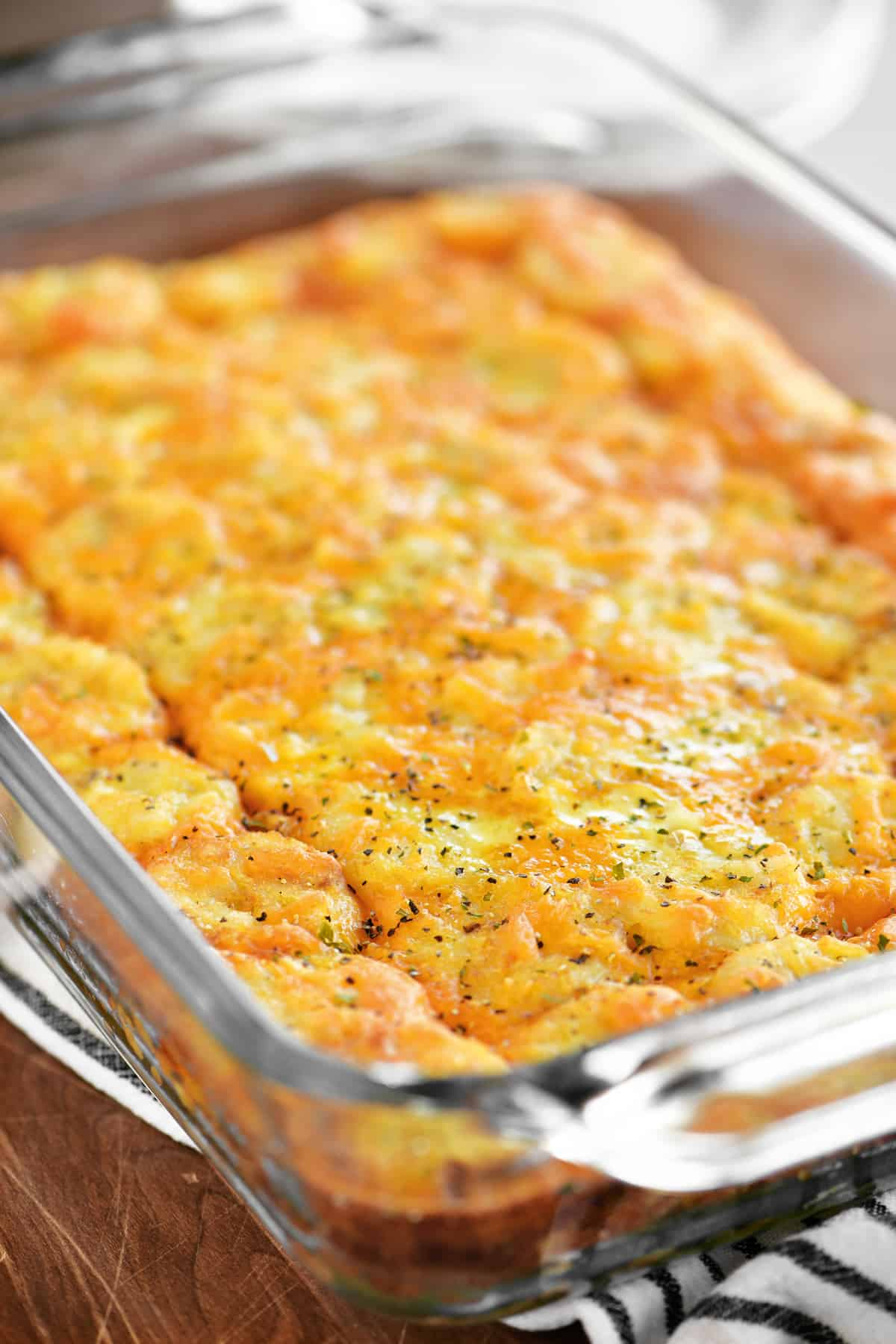 a photo of the baked casserole