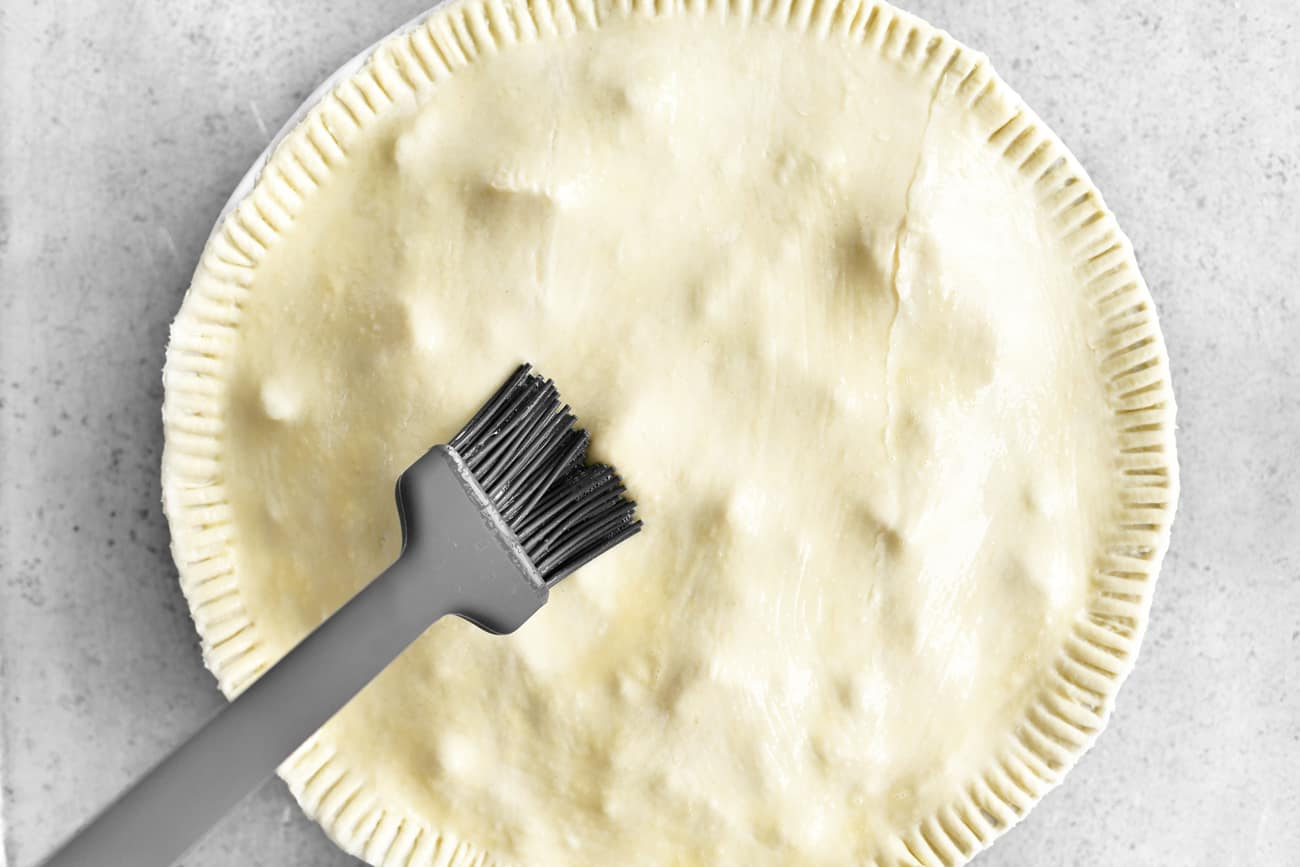 brush the pastry with an egg wash