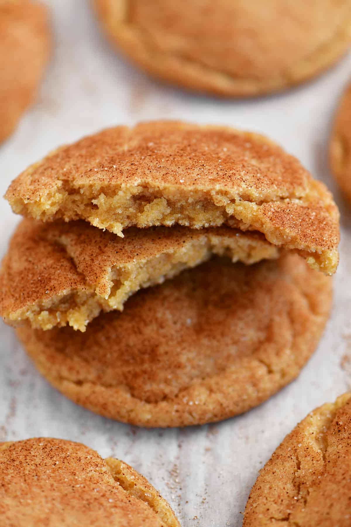 inside of the snickerdoodles